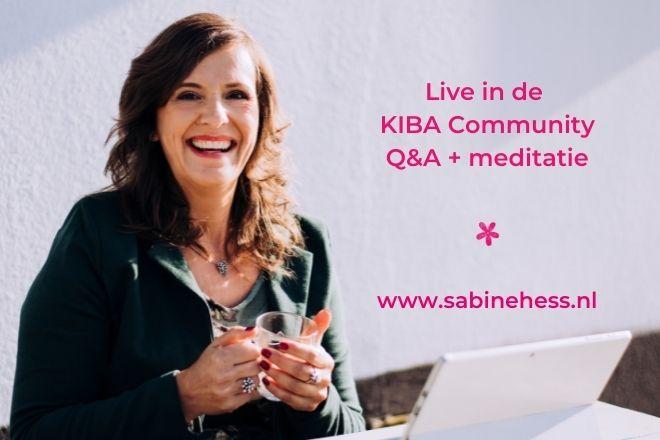 KIBA Q&A met meditatie